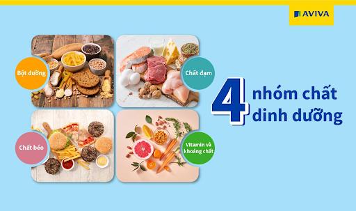 Bổ sung đầy đủ 4 nhóm chất trong bữa ăn hàng ngày