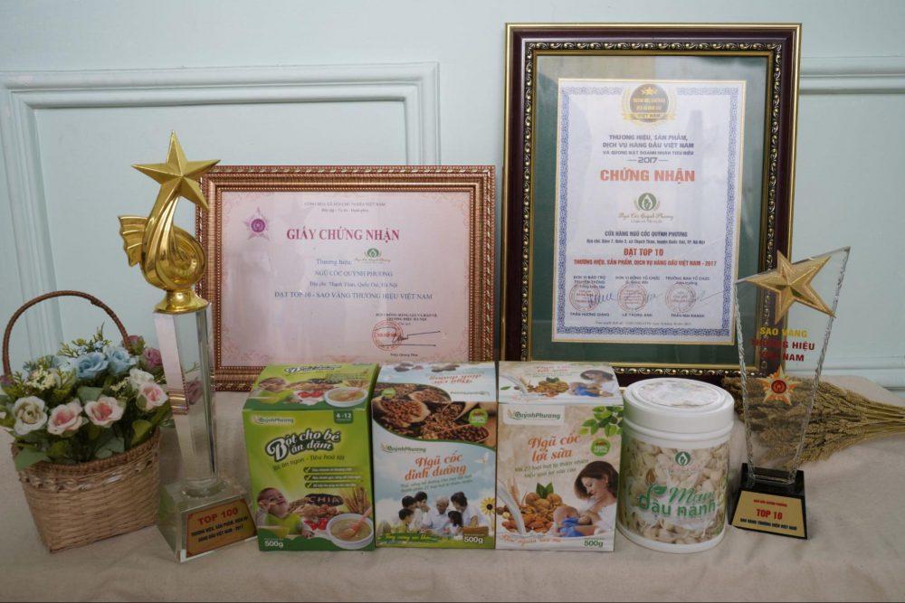 Thương hiệu ngũ cốc Quỳnh Phương và nhiều giải thưởng danh giá
