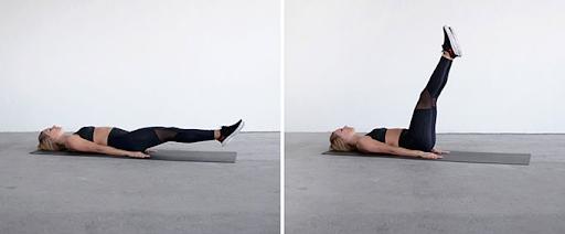 Nâng chân giúp giảm mỡ bụng hiệu quả