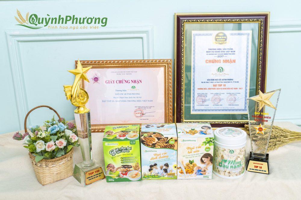 Sản phẩm ngũ cốc Quỳnh Phương mang thương hiệu uy tín