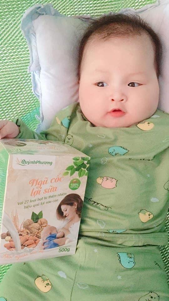 Sữa về nhiều, bé hấp thu tốt nhờ ngũ cốc lợi sữa Quỳnh Phương