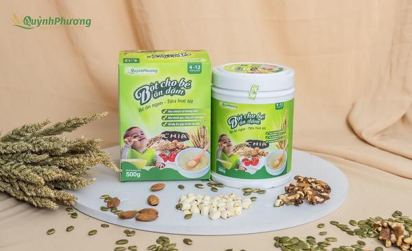 Bột ngũ cốc Quỳnh Phương cung cấp dưỡng chất cho trẻ phát triển toàn diện