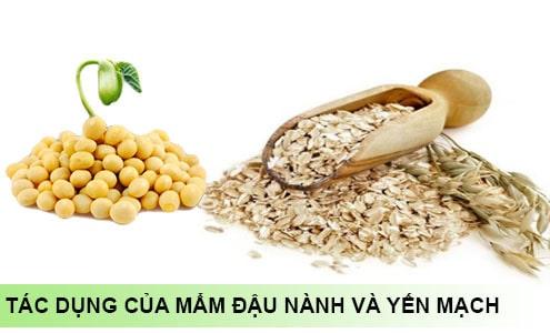 Công dụng của mầm đậu nành yến mạch