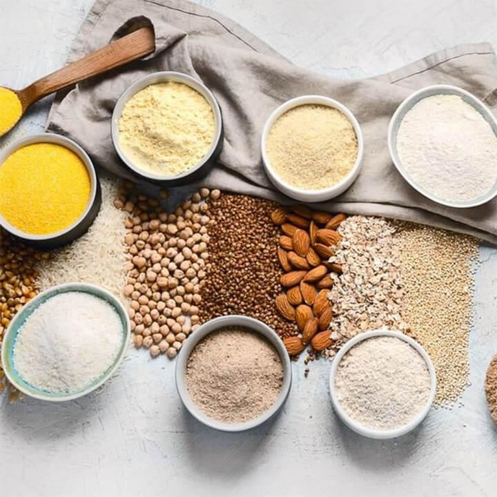 Nguyên liệu cho công thức xay bột cho bé ăn dặm tại nhà