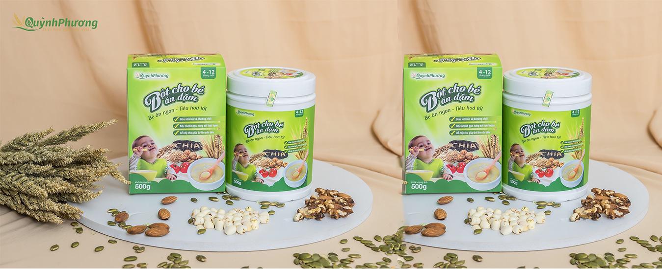 sản phẩm Bột cho bé ăn dặm Quỳnh Phương